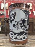 Vintage NFL Oakland Raiders Trush Can (B100)