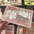 50s Vintage Comic Card Plak Sign (B119)