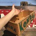 Vintage Grocery Store Okra Handy Basket (B127)