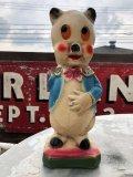 Vintage Chalkware Carnival Prize  Porky Pig Coin Bank (B133)