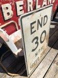 画像3: Vintage Road Sign END 30 M.P.H. SPEED ZONE (B243)