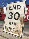 画像2: Vintage Road Sign END 30 M.P.H. SPEED ZONE (B243)  (2)