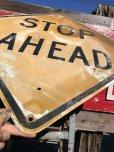 画像6: Vintage Road Sign STOP AHEAD (B237)