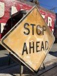画像3: Vintage Road Sign STOP AHEAD (B237)