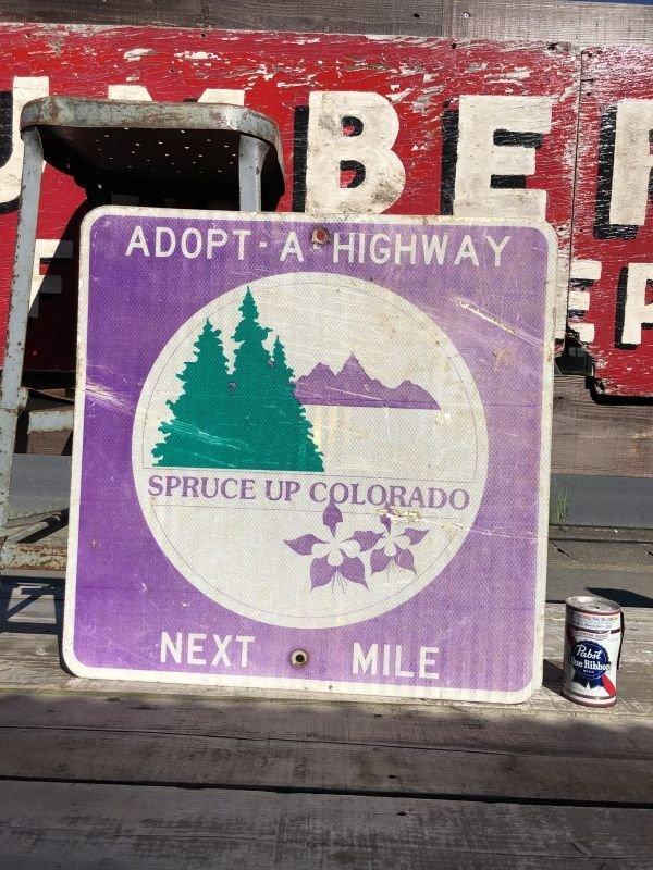 画像1: Vintage Road Sign COLORADO (B235)