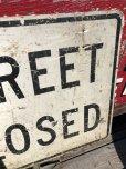 画像5: Vintage Road Sign STREET CLOSED (B239)
