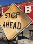 画像2: Vintage Road Sign STOP AHEAD (B237)  (2)