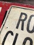画像4: Vintage Road Sign ROAD CLOSED (B240)