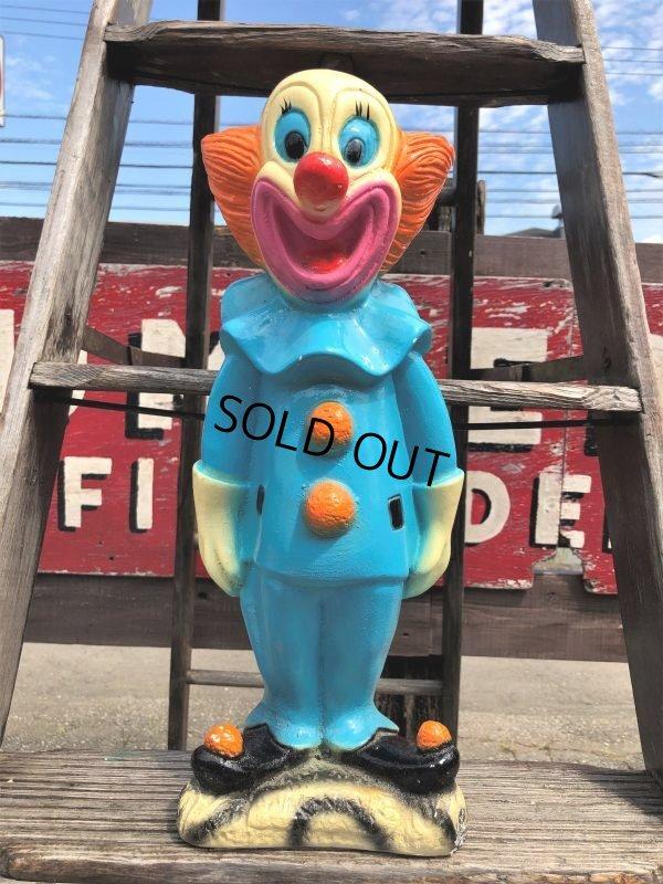 """画像1: Vintage Bozo The Clown 18"""" Big Size Bank Statue (B247)"""