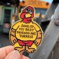 Vintage Badge Turkeys (B251)
