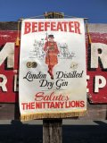 Vintage BEEFEATER Dry Gin Banner Flag (B263)