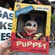 画像1: Vintage Disney Mickey Hand Puppet w/box (B264) (1)
