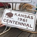Vintage Sign KANSAS 1961 CENTENNE (B282)