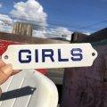 Vintage Sign GIRLS (B275)