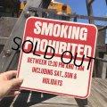 70s Vintage Cardboard Sign SMOKING PROHIBITED (B317)