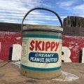 Vintage SKIPPY Peanut Butter Tin Can (B372)