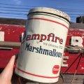 Vintage Borden Campfire Marshmallows Tin Can (B381)