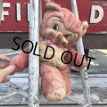 Vintage Rubber Face Doll Pink Kitty Cat (B393)