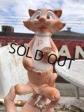 50s Vinatge Tiger Cat Football Mascot Rubber Doll (B427)