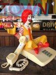 画像12: 80s Vintage Telephone Ronald McDonald Canada Ver (B430)