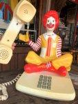 画像14: 80s Vintage Telephone Ronald McDonald Canada Ver (B430)