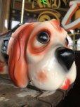 画像5: 70s Carnival Prize Vintage Hound Dog Plastic Lamp (B431)