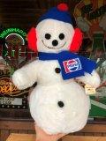 70s Vintage Pepsi Christmas Doll Snow Man 52cm (B444)