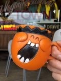70s Vintage Funny Face Mug  Jolly Olly Orange (B446)