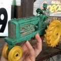 50s Vintage Auburn Rubber Tractor toy (B452)