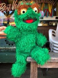 70s Vintage Knickerbocker Sesame Street Oscar Plush Doll 40cm (B484)