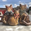 1930s〜 Antique Cats Kitten Lithographed Oil Cloth Dolls (B488)