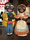 40s Vintage Aunt Jemima Advertising Oil Cloth Doll Set (B489)